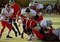 Spielszene aus dem Finale 2000 Hamburg - Hessen  (c) AFV Hessen