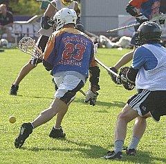 Spielszene vom Lacrosse  (c) AFV Hessen