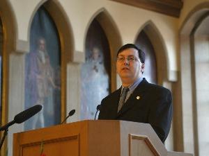Robert Huber beim Festakt im Römer zum 25. Geburtstag des AFVD  (c) AFVD