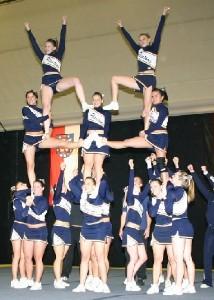 Die Wiesbaden Phantastics gewinnen den Titel im Cheerleading Seniors 2007.  (c) AFV Hessen