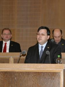 EFAF Präsident Rober Huber bei der EFAF Generalversammlung 2010  (c) AFVH