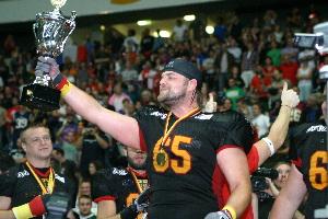 M.Grewe feiert den Europameister-Titel  (c) AFVD